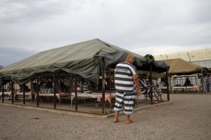 Image of jail tent city is what Van Galder's jail sentence SHOULD have looked like.